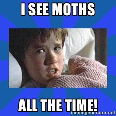 i see dead people - I see Moths all the time!