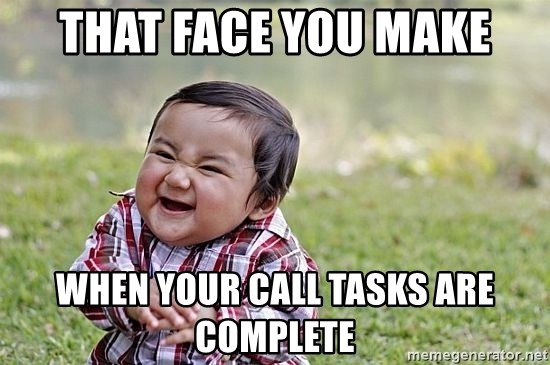 Evil Asian Baby - THAT FACE YOU MAKE WHEN YOUR CALL TASKS ARE COMPLETE