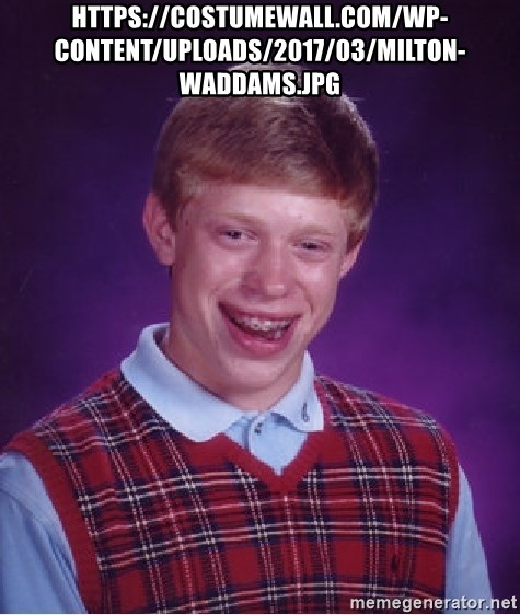 Bad Luck Brian - https://costumewall.com/wp-content/uploads/2017/03/milton-waddams.jpg