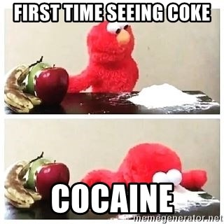 Crack Cocaine Elmo - first time seeing coke cocaine