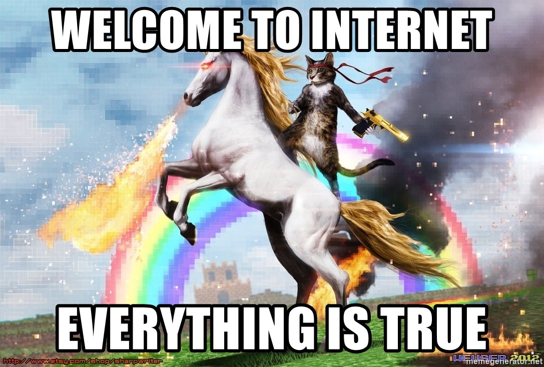 Welcome to the internet 2 - welcome to internet everything is true