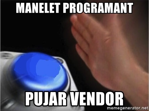 blank nut button - Manelet programant pujar vendor
