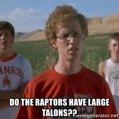 Napoleon Moped Grom - do the raptors have large talons??