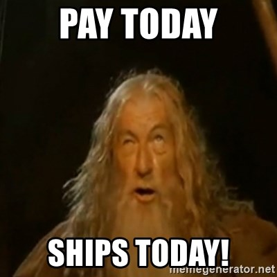 Gandalf You Shall Not Pass - pay today Ships today!
