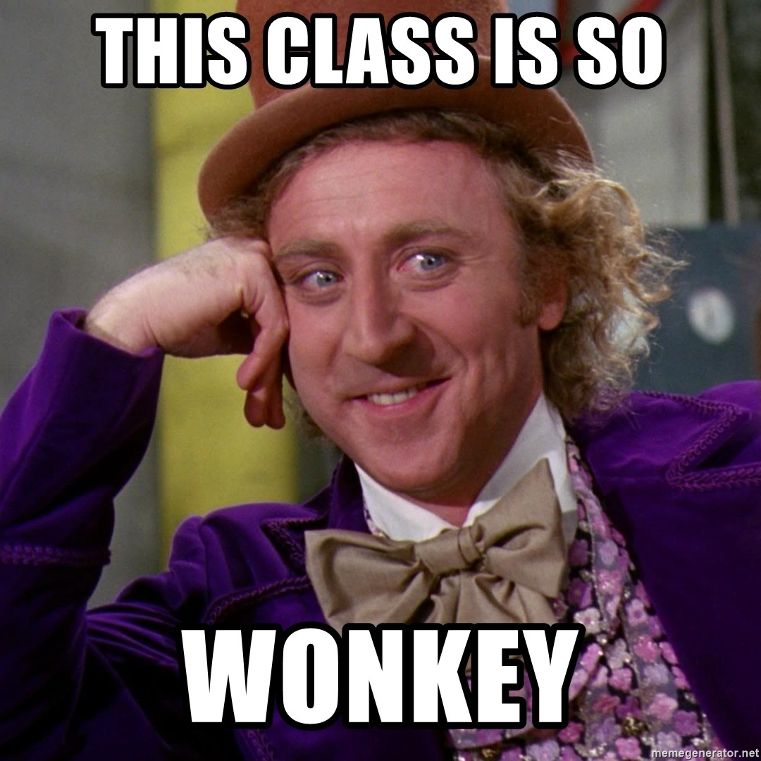 Willy Wonka - This class is so wonkey