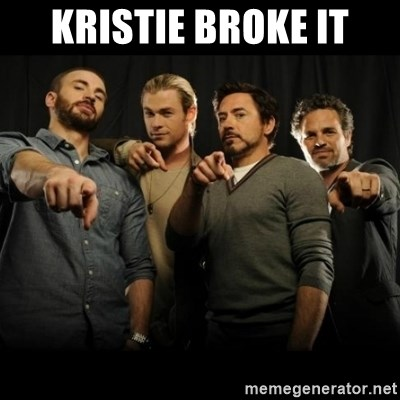 avengers pointing - Kristie Broke It