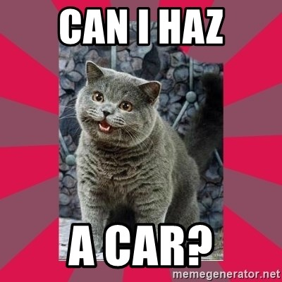 I can haz - Can I haz a car?