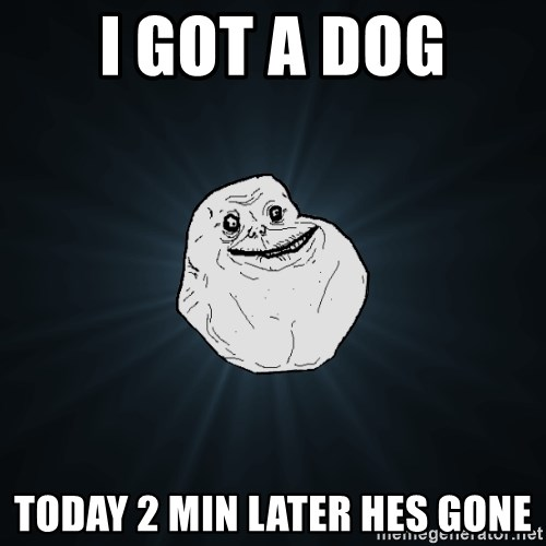 Forever Alone - I got a dog today 2 min later hes gone