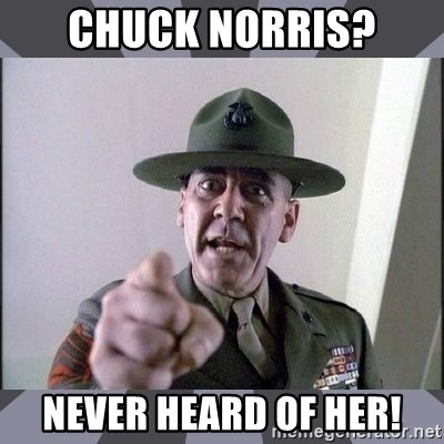R. Lee Ermey - Chuck Norris? Never heard of her!