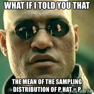 What If I Told You - What if I told you that  the mean of the sampling distribution of p hat = p