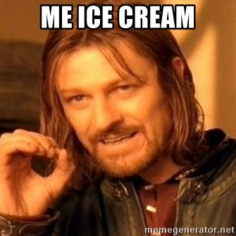 One Does Not Simply - Me ice cream