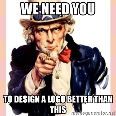 we need you - We need you to design a logo better than this
