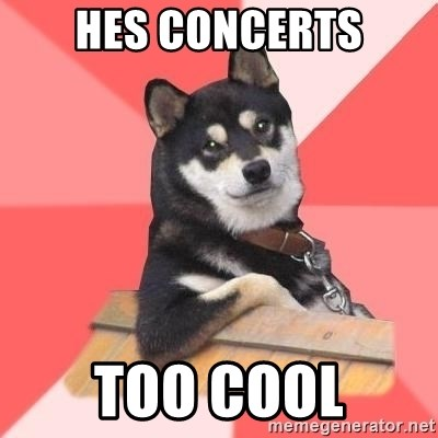 Cool Dog - HES concerts Too cool