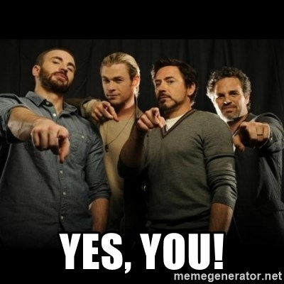 avengers pointing - Yes, you!