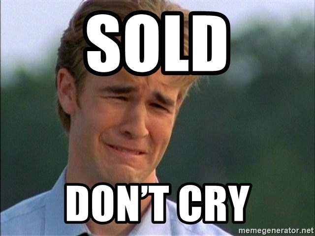 Crying Man - SOLD Don't cry