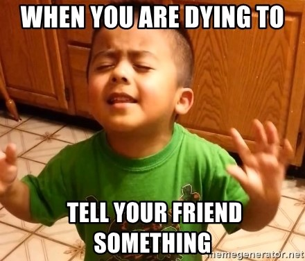 Linda Listen - When you are dying To  tell your Friend something