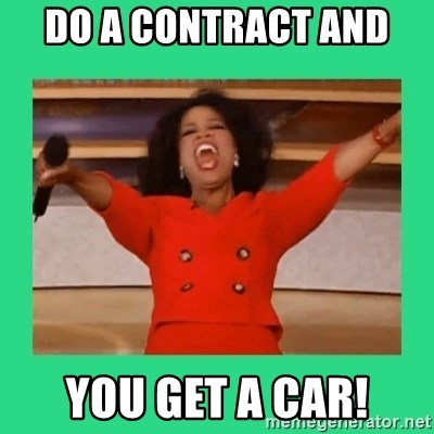 Oprah Car - Do a contract and  YOU GET A CAR!
