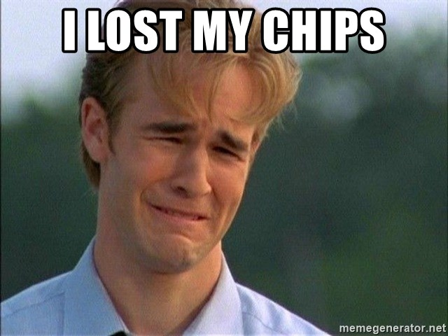 Crying Man - i lost my chips