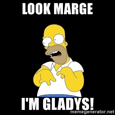 look-marge - Look Marge I'm Gladys!