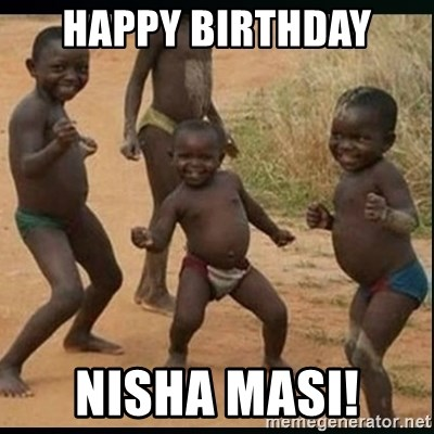 Dancing black kid - HAPPY BIRTHDAY  NISHA MASI!