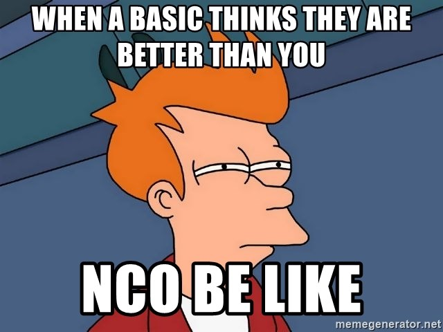Futurama Fry - When a basic thinks they are better than you NCO be like