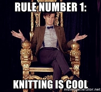 Hipster Doctor Who - Rule number 1: knitting is cool