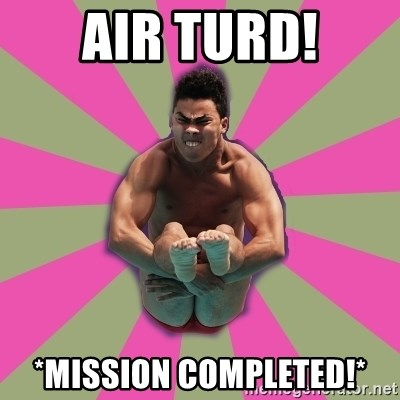 POOPING DIVER - Air turd! *mission completed!*