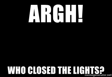 Blank Black - Argh! Who closed the lights?