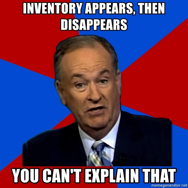 Bill O'Reilly Proves God - INVENTORY APPEARS, THEN DISAPPEARS YOU CAN'T EXPLAIN THAT