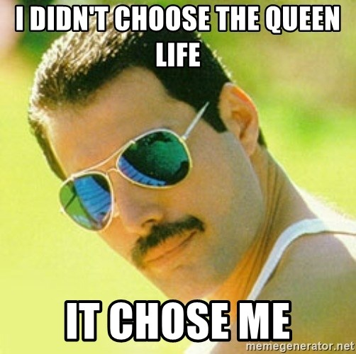 typical Queen Fan - I didn't choose the Queen life it chose me