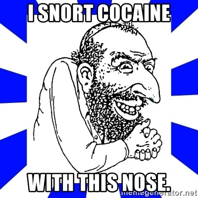 Le Happy Merchant - I snort cocaine with this nose.