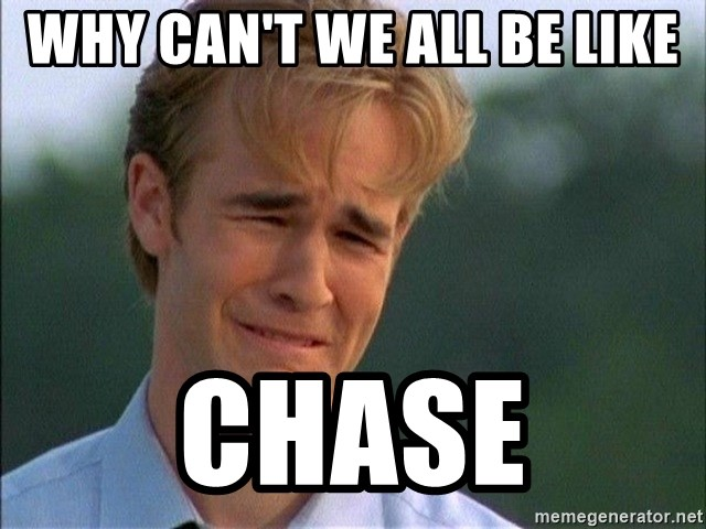 Dawson Crying - why can't we all be like chase