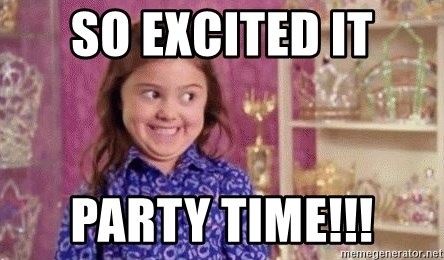 Girl Excited & Trolling - So excited it Party time!!!