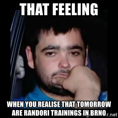 just waiting for a mate - that feeling  when you realise that tomorrow are randori trainings in Brno