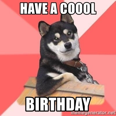 Cool Dog - have a coool birthday