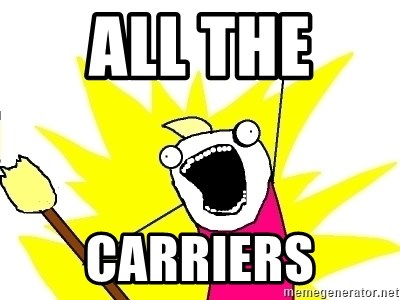 X ALL THE THINGS - all the  carriers