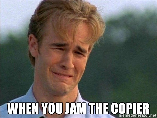 Dawson Crying - when you jam the copier