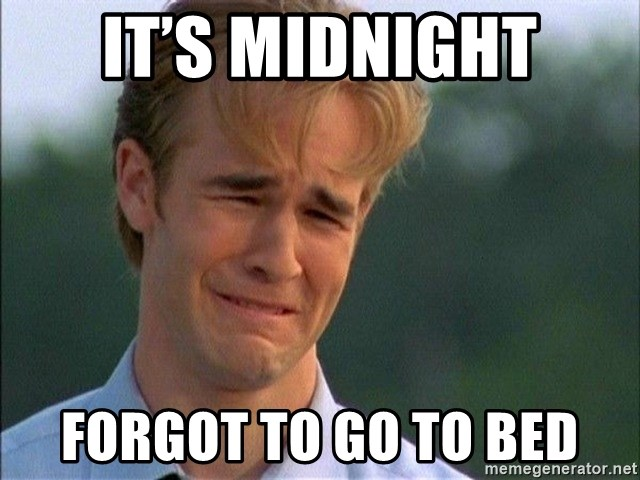 Dawson Crying - It's midnight Forgot to go to bed
