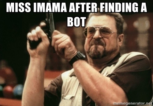 Walter Sobchak with gun - Miss iMAMA AFTER FINDING A BOT