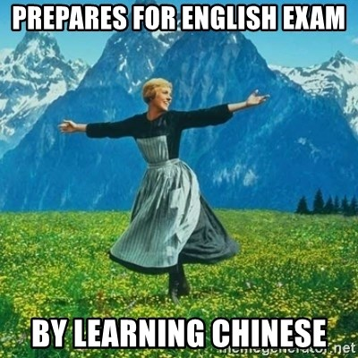 Look at All the Fucks I Give - PREPARES FOR ENGLISH EXAM BY LEARNING CHINESE