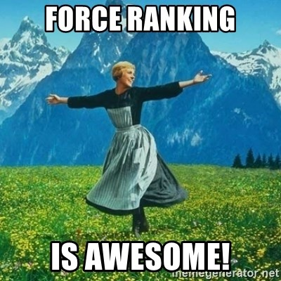 Look at All the Fucks I Give - Force ranking is awesome!