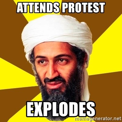 Osama - Attends protest Explodes