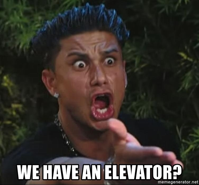 Pauly D - We have an elevator?