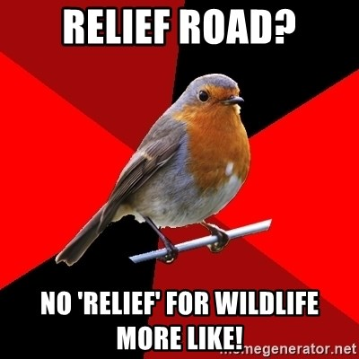Retail Robin - Relief road? No 'relief' for wildlife more like!