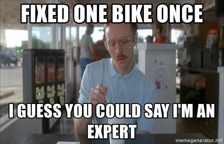 so i guess you could say things are getting pretty serious - Fixed one Bike once I guess you could say i'm an expert