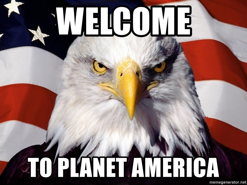 Patriotic Eagle - Welcome To planet america