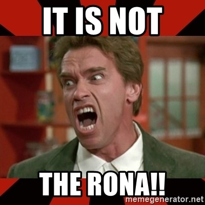 Arnold Schwarzenegger 1 - It is not the rona!!