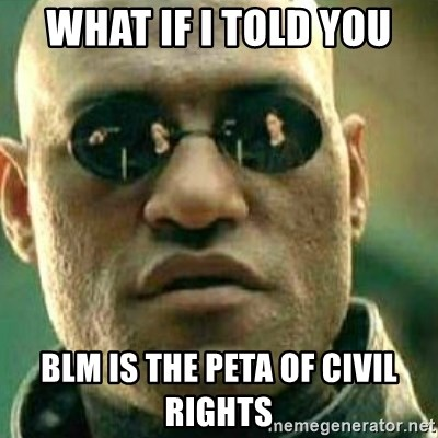What If I Told You - What if I told you BLM is the PETA of civil rights