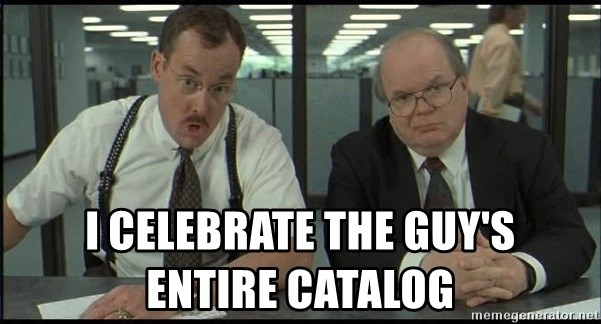 Office space - I CELEBRATE THE GUY'S            ENTIRE CATALOG
