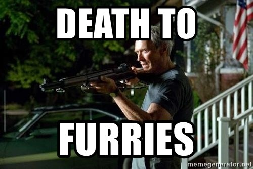 Clint Eastwood Get Off My Lawn - Death to Furries